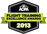 flight training school AOPA Excellence Award 2013