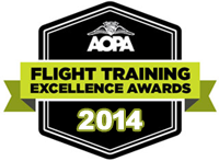 flight training AOPA Excellence Award 2014