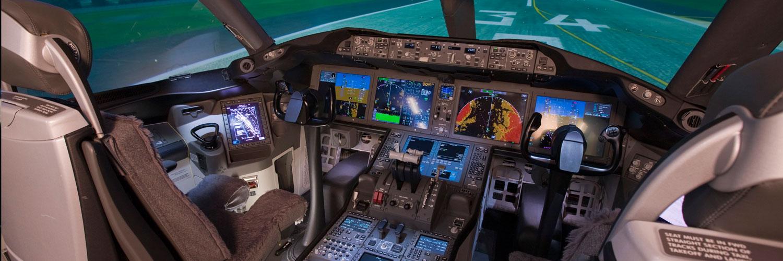 Airliner-Cockpit